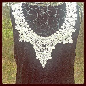 Valerie Stevens Dresses & Skirts - NWT BLACK LACE TUNIC DRESS