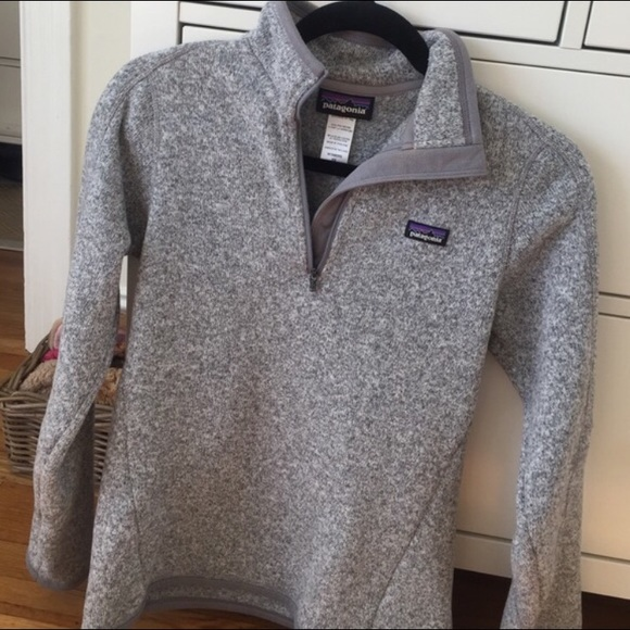 Patagonia Better Sweater 1/4 Zip XS , Heather Gray