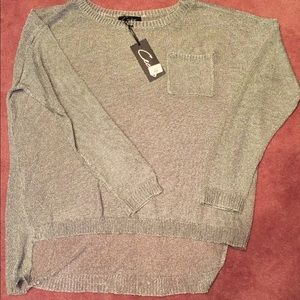 Cecico Sweaters - 💕Silver Lurex Sweater💕 Size Large