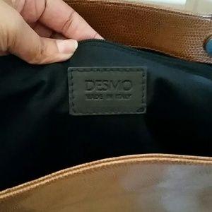 c7beaaff8c Desmo Bags - SALE Reptilian Embossed Italian Leather Desmo Bag