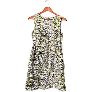GAP Dresses & Skirts - Gap yellow/gray/black animal print zip up dress