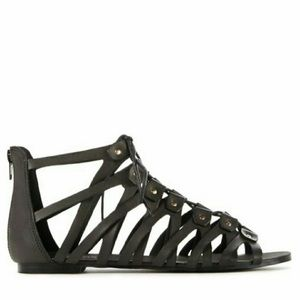 JustFab Shoes - Black lace up sandals