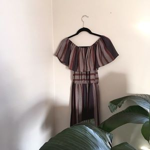 Chicwish Striped, Off-the-Shoulder Dress