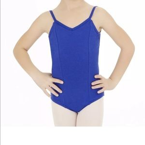 Capezio Large child seamed blue leotard new!