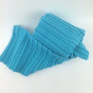 "❌SOLD❌ knitted long and 7"" wide blue/green scarf"
