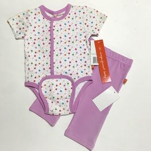 Magnificent Baby Other - Magnificent Baby Purple Star Kimono & Pants