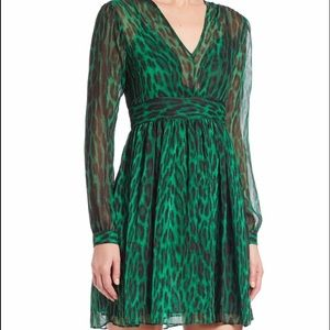 Michael Kors Dresses & Skirts - Brand New!! Michael Kors Green Leopard Dress