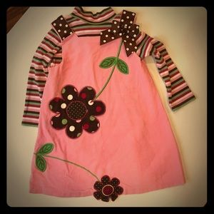 Bonnie Jean Other - Pink corduroy Bonnie Jean dress with flowers