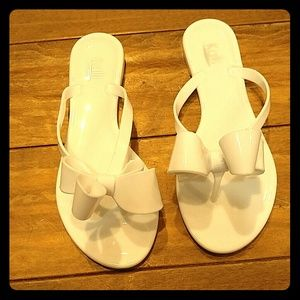 Kaii Shoes - White Bow Sandals
