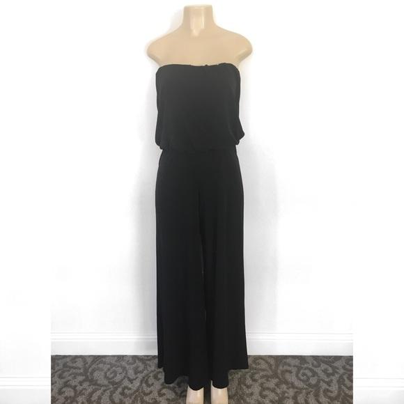 a93345d8ae1 MACYS    Strapless Black Jumpsuit. NWT