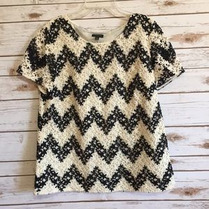 Talbots Tops - 💜New Listing💜 Talbots chevron print lace blouse