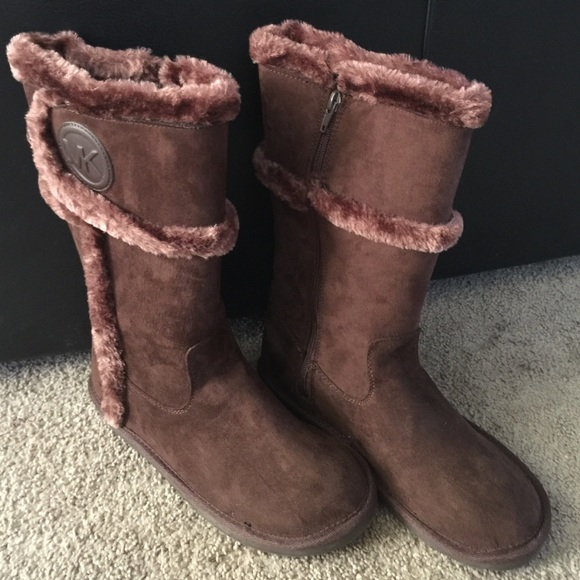 NEW Michael Kors ugg boots faux fur size 7