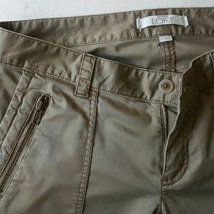 LOFT Pants - Skinny cargo pant- gorgeous mushroom sage color