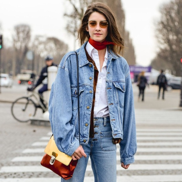Image result for oversized denim jacket women