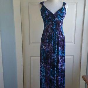 4a462566a06 Chaps Dresses - Tie Dye Maxi Dress