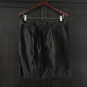 James Perse black linen skirt NWT