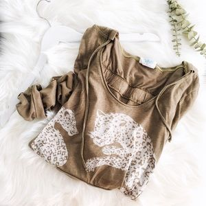 {free people} hooded tee