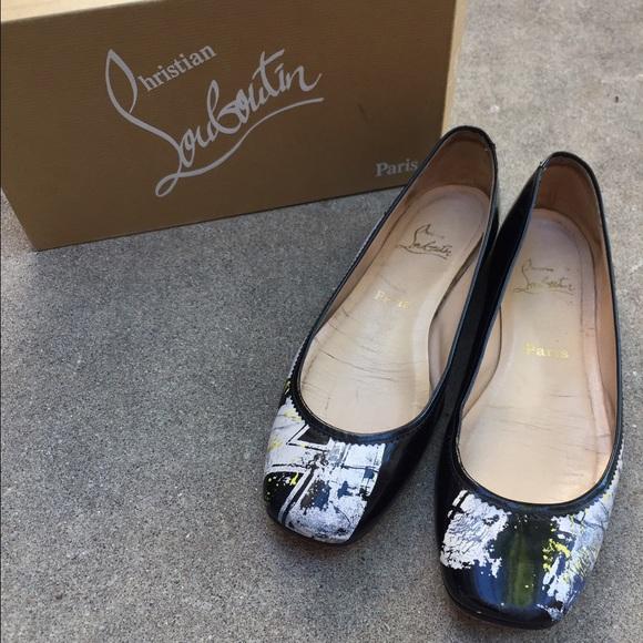 871b72ef48dc Christian Louboutin Shoes - Christian Louboutin 40.5 Graffiti Ballet Flat