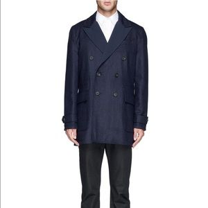 Hardy Amies Other - Hardy Aimes Navy Reversible Coat