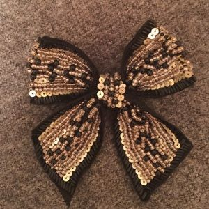 Cara Couture Jewelry - Cara bow pin w/sequins and beads