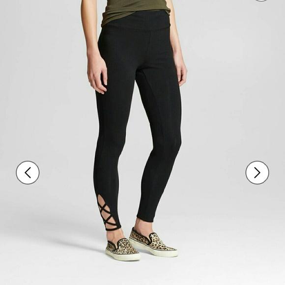 ec6aabc3c4 Mossimo Supply Co. Pants   Womens Yoga Capri Lattice Leggings Xl ...
