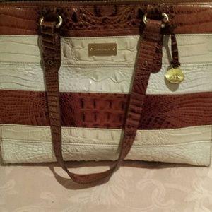 Brahmin  Handbags - Brahmin tri-color leather bag