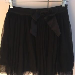 Black tulle skirt size small