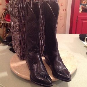 Tony Lama Shoes - VINTAGE TONY LAMA LIZARD BOOTS