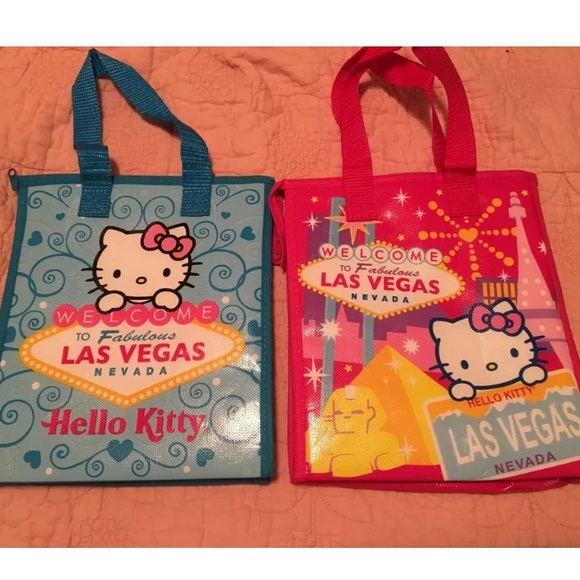 Hello Kitty Handbags - 🙃 HELLO KITTY LUNCH BAGS LAS VEGAS SIGN INSULATED 10081a7134ff