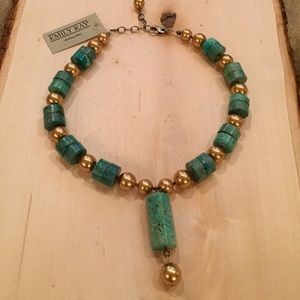 Emily Ray Jewelry - Emily Ray turquoise with gold beads