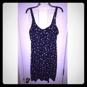 Torrid navy floral print dress