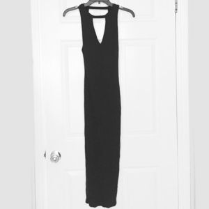 Silence + noise black midi dress size small