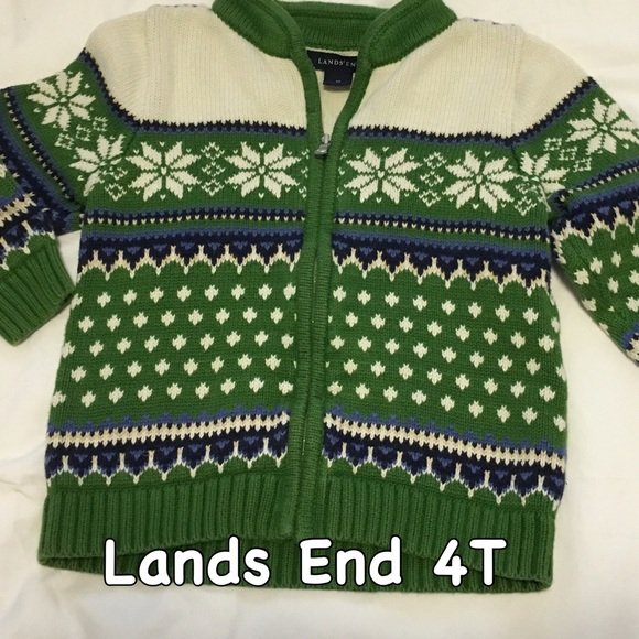85% off Lands' End Other - Lands End fair Isle sweater SZ 4T from ...