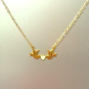 Jessica Elliot Jewelry - Love dove charm necklace gold