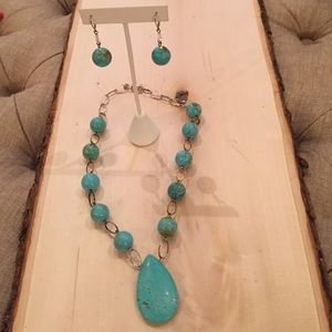 Emily Ray Jewelry - Emily Ray Turquoise Necklace Sterling Silver Loops