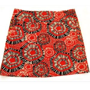 Ideology Dresses & Skirts - Studded Chocolate Red Cream Stretchy Mod Mini
