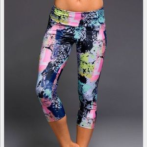 Onzie Jungle Animal Print Yoga Capri Leggings