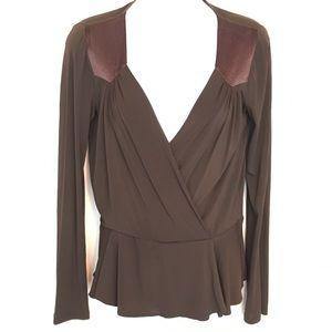 MaxMara Tops - MaxMara chocolate jersey top