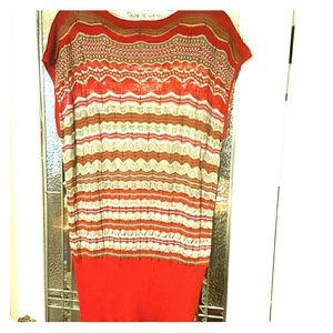 M by Missoni Tops - M by Missoni zigzag knit short sleeve sweater