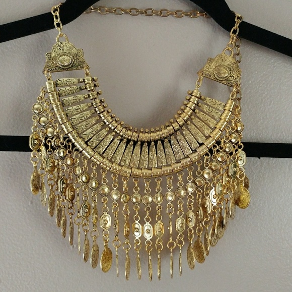 60 off Jewelry Gypsy Gold Coin Statement Necklace Poshmark