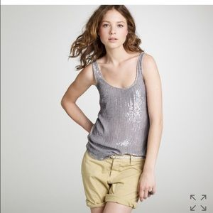 Jcrew sequin drizzle tank