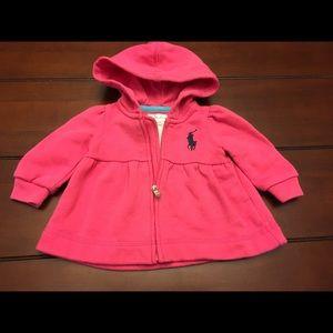 Ralph Lauren Other - Ralph Lauren Pink Baby Hoodie, Size 3 Mos