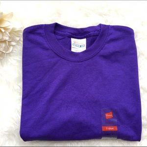 Hanes Tops - Purple crew neck tee