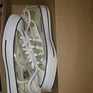 Converse All Star Low Tops Clear see through upper