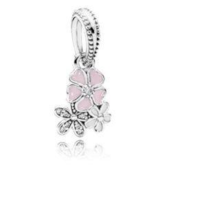Pandora Poetic Blooms Enamel & Clear CZ charm