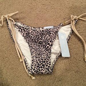 NWT Eberjey cheetah print bikini bottom. Small.