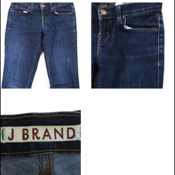 J Brand Denim - J.BRAND BLUE COTTON  THE PENCIL LEG JEANS SZ 24