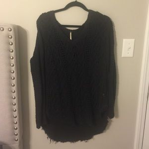 Navy free people v neck sweater