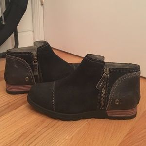 Sorel Shoes - Short boots black with brown leather back
