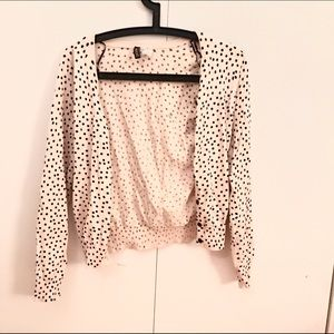 Sweaters - Never Worn Polkadot Cardigan